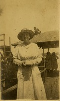 Unidentified Woman on a Pier