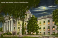 Florida State Capitol, at Night, Tallahassee, Fla.