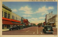 Monroe Street, Looking North, Tallahassee, Fla.