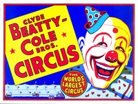 Clyde Beatty-Cole Brothers clown poster