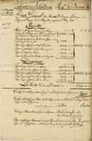 Berwick Regiment list of revenue and expenses. May, 1771 to May, 1772