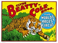 Clyde Beatty- Cole Brothers tiger poster