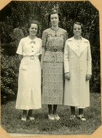 Wylma TerBush (Kappa Alpha Theta), Valerie Stubbs (Alpha Chi Omega), and Lillian Turlington