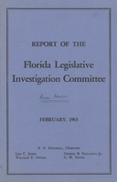 Report of the Florida Legislative Investigation Committee