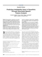 Predicting Intelligibility Gains in Dysarthria Through Automated Speech Feature Analysis.