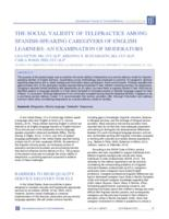 Social Validity of Telepractice among Spanish-Speaking Caregivers of English Learners