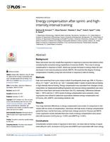 Energy compensation after sprint- and high-intensity interval training.