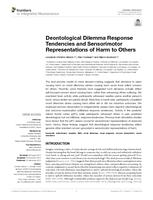 Deontological Dilemma Response Tendencies and Sensorimotor Representations of Harm to Others.