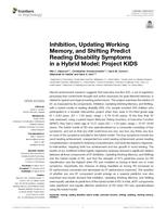 Inhibition, Updating Working Memory, and Shifting Predict Reading Disability Symptoms in a Hybrid Model