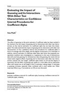Evaluating the Impact of Guessing and Its Interactions With Other Test Characteristics on Confidence Interval Procedures for Coefficient Alpha.