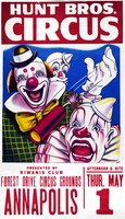 Hunt Brothers clowns poster
