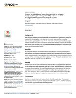 Bias caused by sampling error in meta-analysis with small sample sizes.