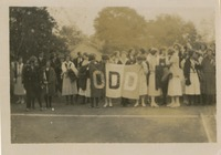"Students With ""Odd'"" Banner"