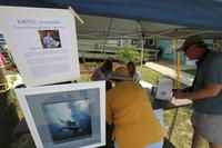 FSU Atmospheric Shoreline Lithograph booth