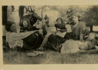 Group of Woman Putting Feet Together in a Circle