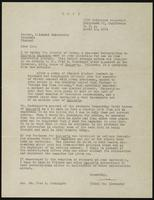 Letter from May Alexander to Earl Vance