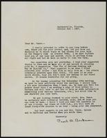Letter from Pearl B. Beckman to Earl Vance