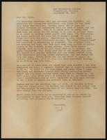 """Letter from Hazel """"Red"""" Bowman to Earl Vance"""