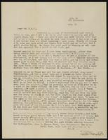 Letter from Dora Bryon to Earl Vance