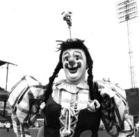 Chuck Burns in clown costume