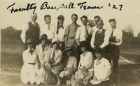 1927 Faculty Baseball Team