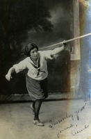 Anne Harwick Throwing Javelin Pose