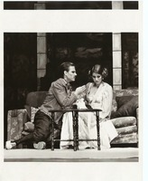 Theatre Production Photograph Showing Couple Acting in a Scene Onstage