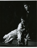 Theatre Production Photograph Showing Couple in Medieval Style Costume Acting in a Scene Onstage