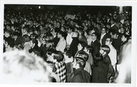 Crowd of Students in Winter Coats