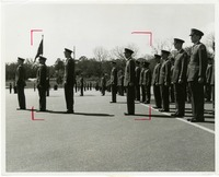 Cadets Lined up for Review