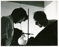 Two Scientists Performing an Experiment