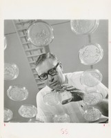 Scientist with Petri Dishes
