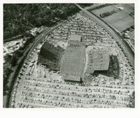 Aerial View of Doak S. Campbell Stadium on Game Day