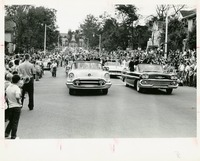Cars in Homecoming Parade Down College Avenue