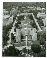 Aerial View of Landis Hall and Landis Green