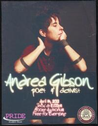 Andrea Gibson event poster
