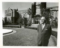 Doak Campbell in Front of the Westcott Building