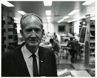 Dr. Orvin Rush at the Library