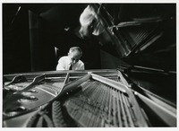 Edward Kilenyi Classical Pianist, at the Piano Rehearsing for a Concert