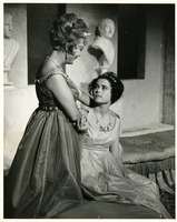 "Louise Allbritton and an Unidentified Woman Acting in the Scene from ""Assignment in Judea"" by Peggy Traylor"