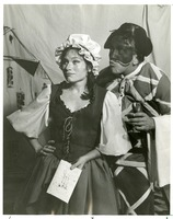 "Linda Kampley and Donald C. Hoepner in a Performance of ""Servant of Two Masters"" at the Asolo Theatre"