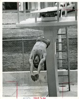 Student Diving off the Diving Board