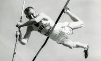 Pole Vaulter Jumping Over the Bar