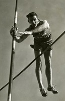 Pole Vaulter Crossing the Bar