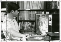 WFSU Technician Playing a Recorded TV Show
