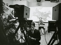An Instructor Prepares for an WFSU Taping