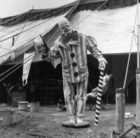Joe Ward in clown costume