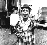 Jimmy Armstrong in clown costume