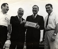Bill Peterson, Frank Pope, Gov. Claud Kirk, and Vaughn Mancha