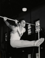 Male Gymnast on the High Bar